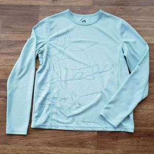 Title Nine Medium Long Sleeve Blue Athletic Top